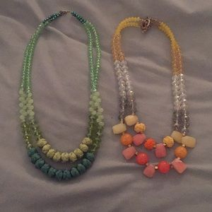 Anthropologie beaded necklaces